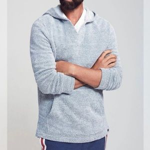 Faherty Whitewater Hoodie Light Blue Poncho